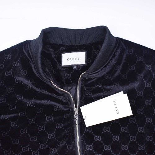 GG Web Logo Bomber Jacket Black