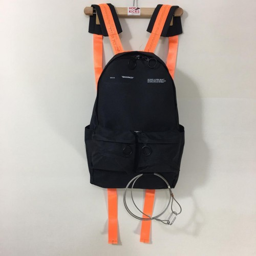 Off-White Orange Stripe Backpack