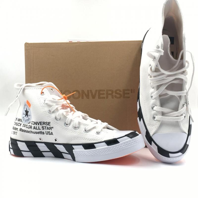 bf0c2a9ddb3 Off-White x Converse 2.0 Chuck 70 Hi White Black