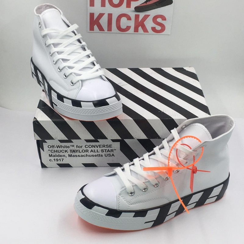 f3a7e97ef43364 Off-White x Converse 2.0 Chuck 70 Hi White Black stripes
