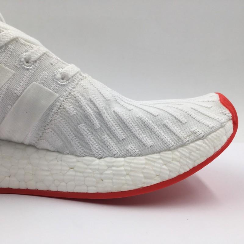 """online store ab84b b1135 Adidas NMD R2 Primeknit """"White Red"""""""