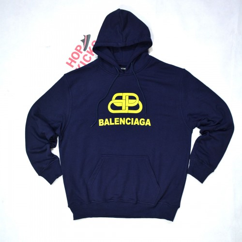 Balenciaga BB Interlock Hoodie Blue [Slight Spots] [Hop Batch]