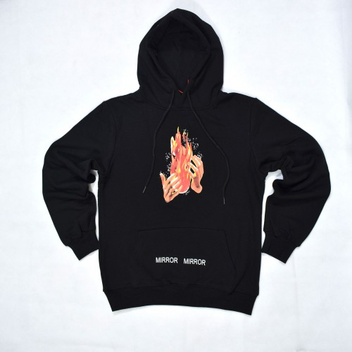 Off-White Diagonal Fire Spliced Hoodie