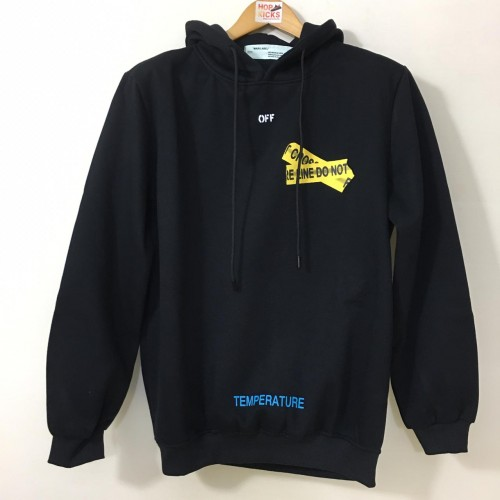 Off-White Fire Tape Hoodie Black