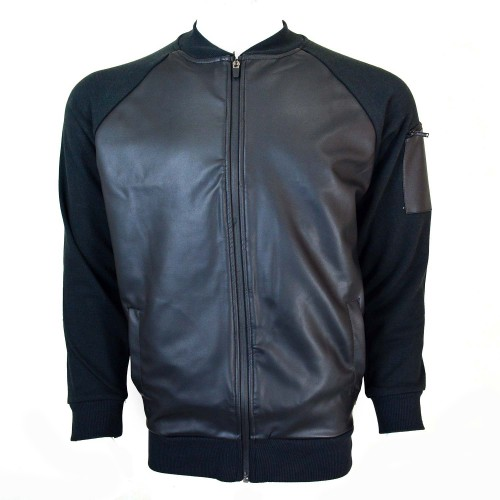 Diverse Leather Jacket Black