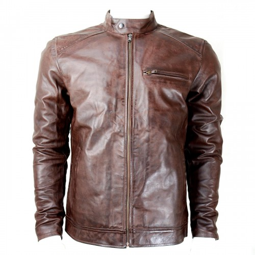 CDL Tobacco Brown Leather Jacket