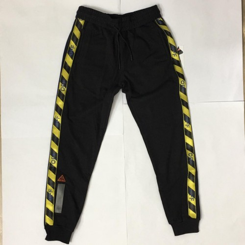 Off-White Yellow Stripe Track Pants