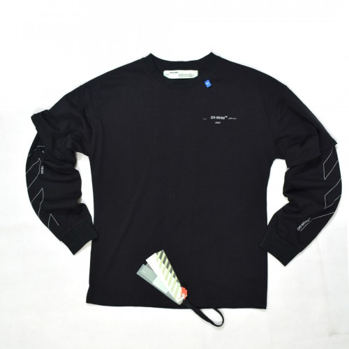 Off-White Unfinished Double Sleeve Tee