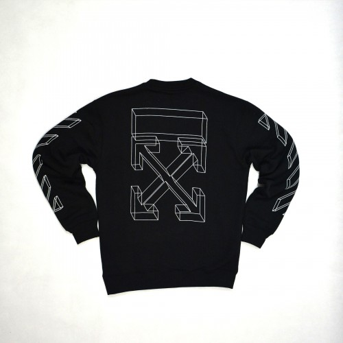 Off-White 3D Marker Line Arrows Sweatshirt [Hop Batch]