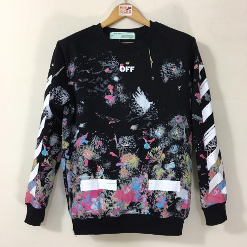 Off-White Galaxy Fireworks Brushed Sweatshirt