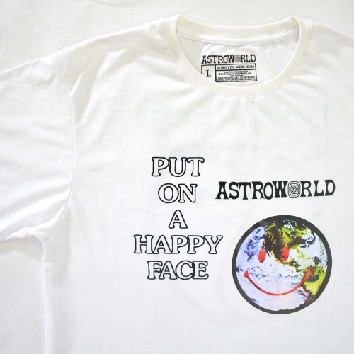 Astroworld Put On A Happy Face Tee White [HOP Batch]