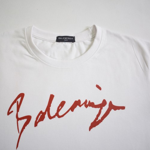 Balenciaga White Signature Tee [HOP Batch]