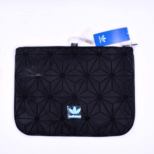 3D Prism Clutch Bag Black