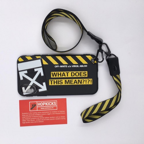 Off-White What Does This Mean Case