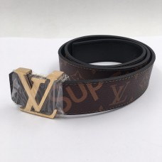 LV X Supreme Gold Belt
