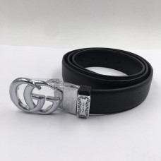 GG Silver Buckle Belt