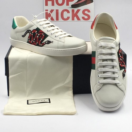 GG White Ace Embroidered Snake [Dot Perfect Version]