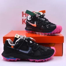 Off-White X Zoom Terra Kiger 5 Black [Dot Perfect Version]