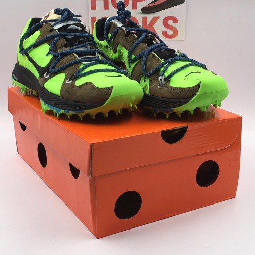 Off-White X Zoom Terra Kiger 5 Electric Green