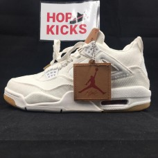 Air Jordan 4 White Denim