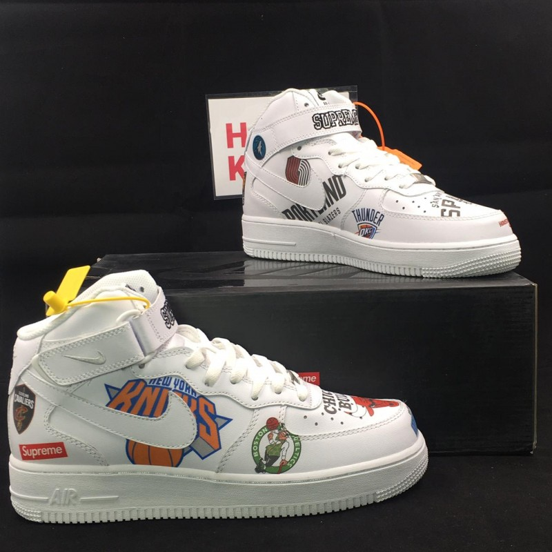 brand new 94f4c 7bcc9 Air Force 1 X NBA X Supreme Mid '07 [May 2019 Version]