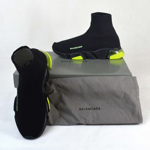 Balenciaga Speed Clear Sole Black Yellow Fluo [Premium Quality]