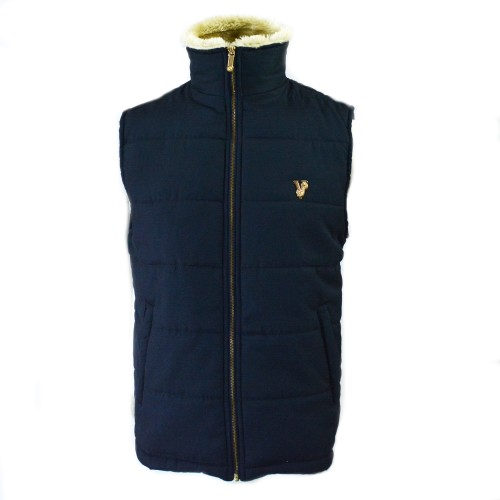VRSC Padded Sleeveless Jacket Blue