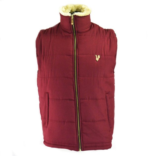 VRSC Padded Sleeveless Jacket Maroon