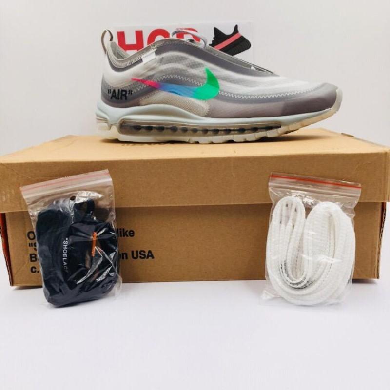 promo code dfdaa d0536 OFF WHITE X Nike Air Max 97 Wolf Grey Menta [ REAL AIR MAX UNIT : Premium  Materials ]