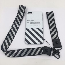 OFF White white Black Iphone Cover