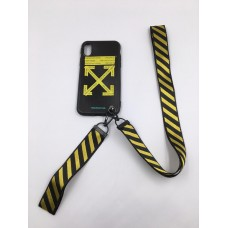 Off WhiteFire Tape Black Iphone Cover