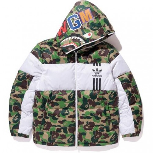 A Bathing Ape Camouflage Camo Hoodie Puffer Jacket [ PREMIUM MATERIALS ]