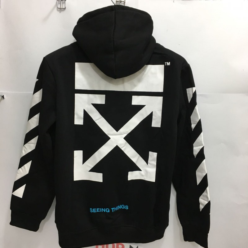 Off White CO Virgil Abloh Hoodie SEEING THINGS