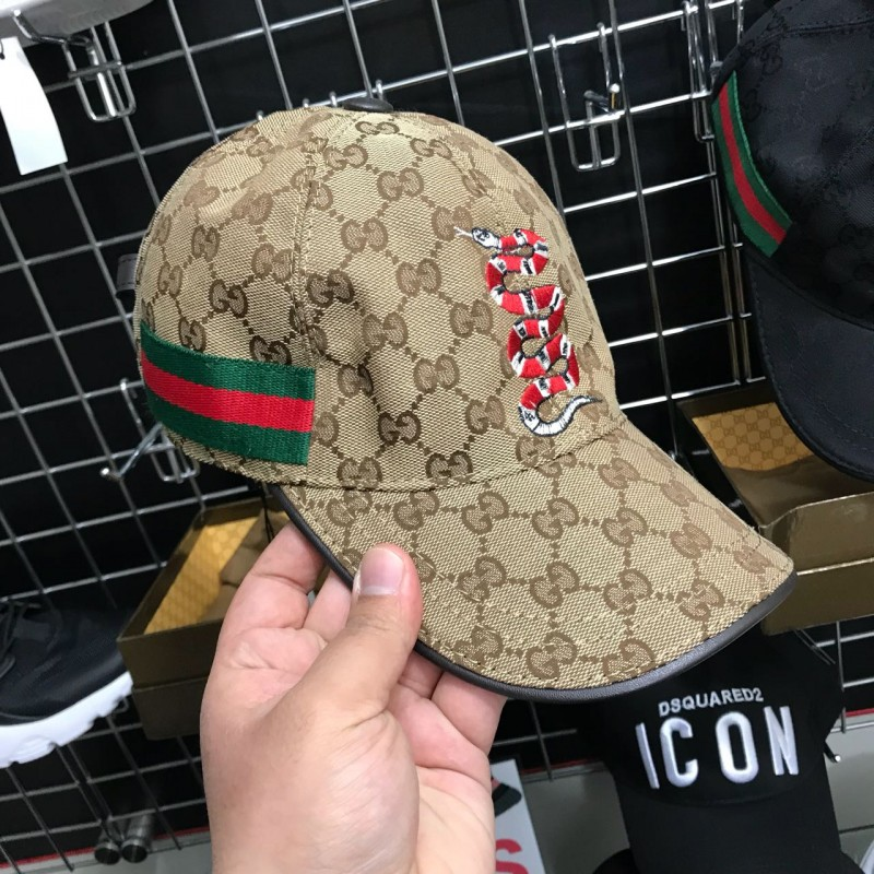 9fd825f0f24 Gucci brown Snake cap