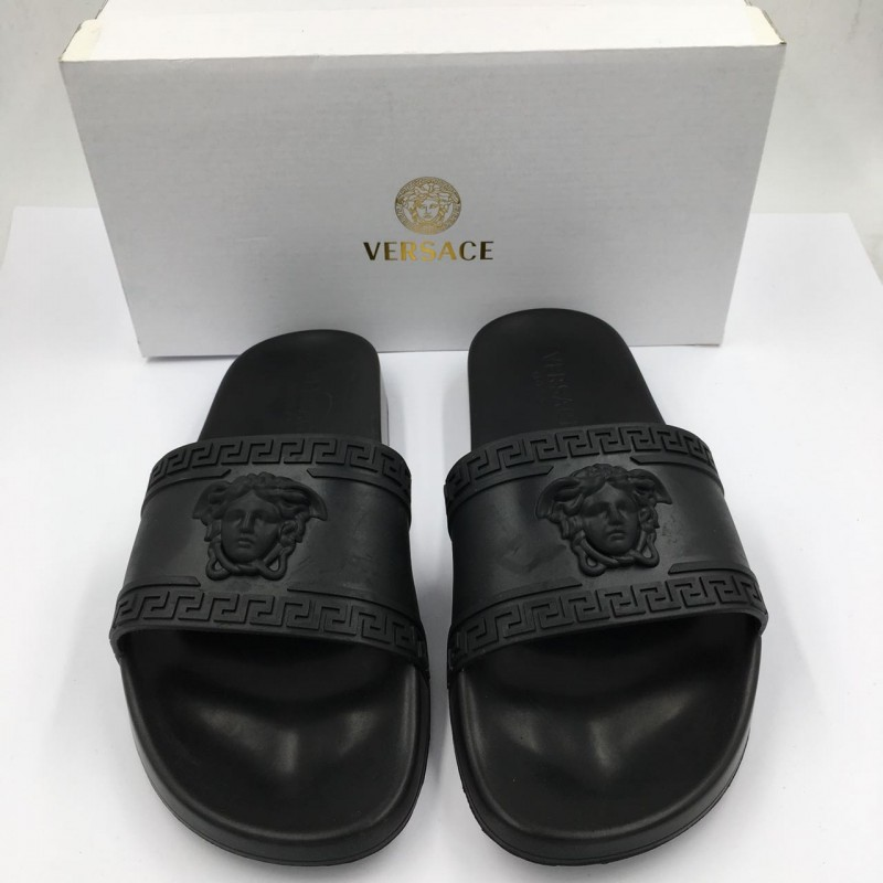Versace Men S Medusa Amp Greek Key Shower Slide Sandal
