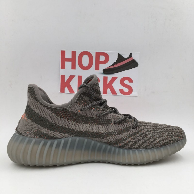 sports shoes 1cef2 7dd34 Yeezy Boost 350 V2 grey/solar red Beluga [PREMIUM MATERIALS]