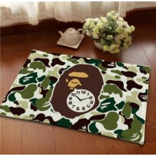 A Bathing Ape Bape Clock Mat [ Hype beast Room decor]