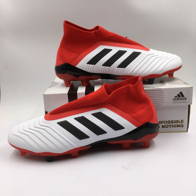 """3887b0a0a195 Adidas Predator 18+ """"White Red"""" [ PERFECT PATTERNS / TOP VERSION ]"""