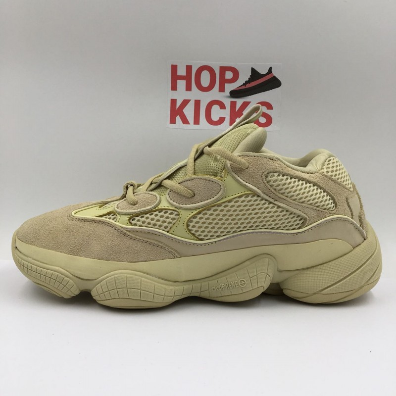buy online 11755 31ab1 Yeezy 500 Desert Rat Super Moon Yellow [ Dot Perfect Versions ]