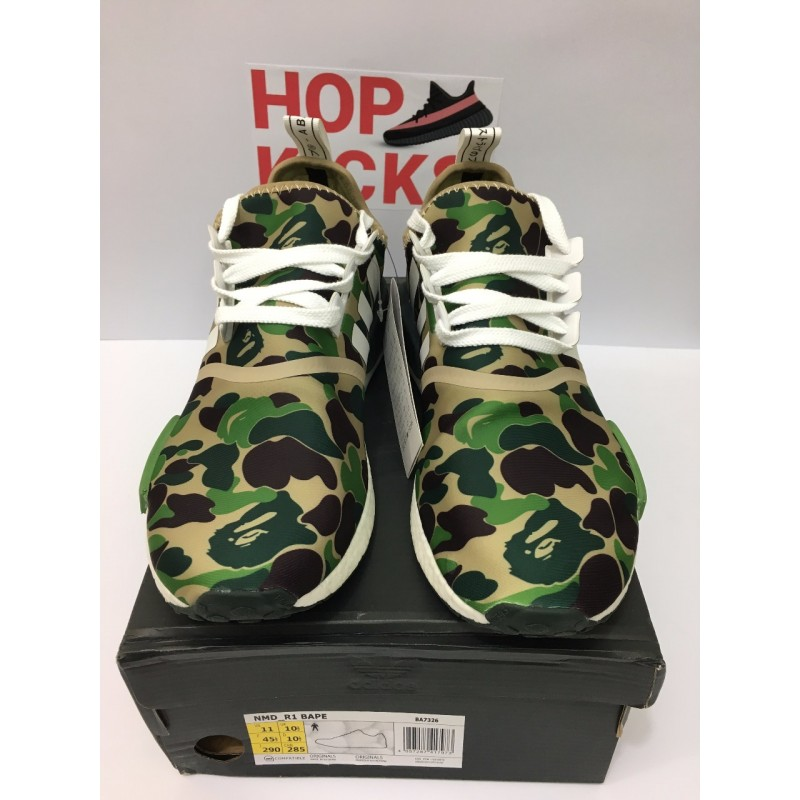 buy online 77d65 4f2e4 NMD Bape x Adidas Green DOT PERFECT VERSION [REAL BOOST/PREMIUM MATERIALS]