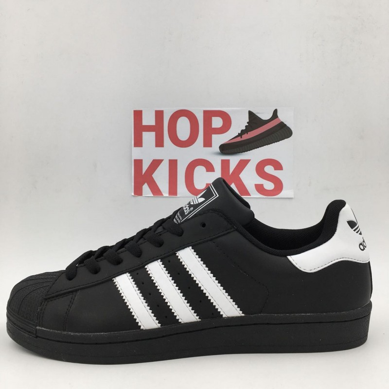 lowest price 09f9e 73f19 Adidas Superstar Black version 2(II) [ DOT PERFECT VERSION NO QUESTIONS  PLEASE!!!]