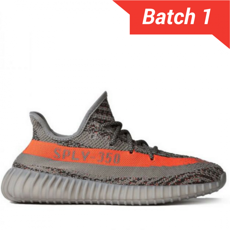 sports shoes d12db a49e3 Yeezy Boost 350 V2 grey/solar red Beluga [PREMIUM MATERIALS]