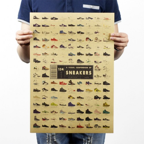 Sneakers Nostalgic  Decorative Wall Poster