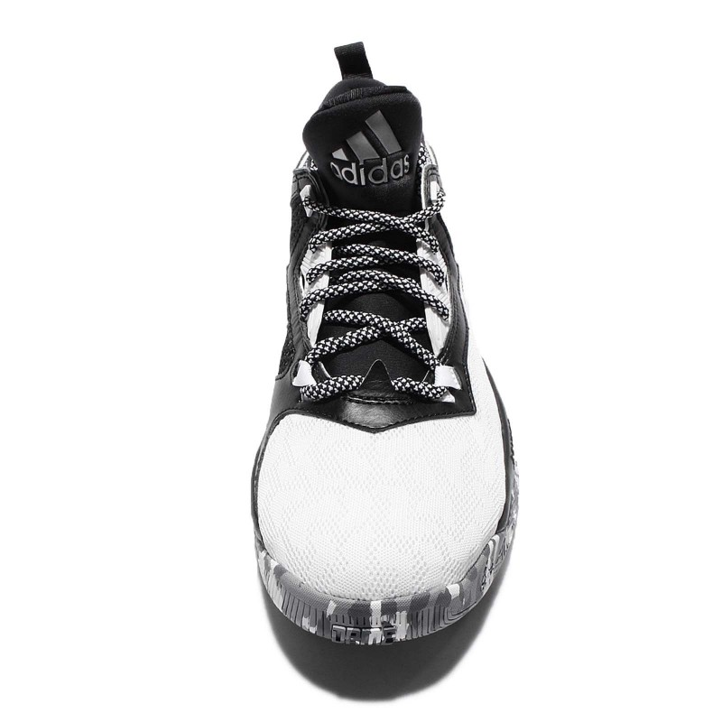 buy online 2366b 088c6 Authentic Adidas D Lillard 2 Damian Black White Basketball Shoes .